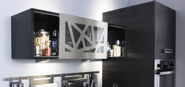 meuble haut cuisine facade verre