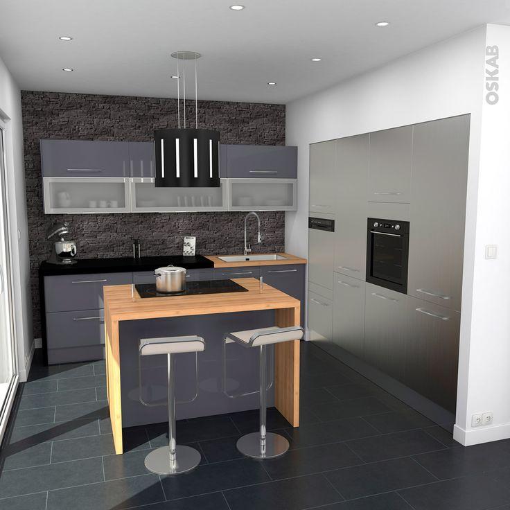 meuble haut cuisine gris mat
