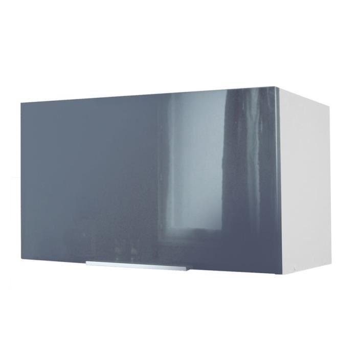 meuble haut cuisine gris