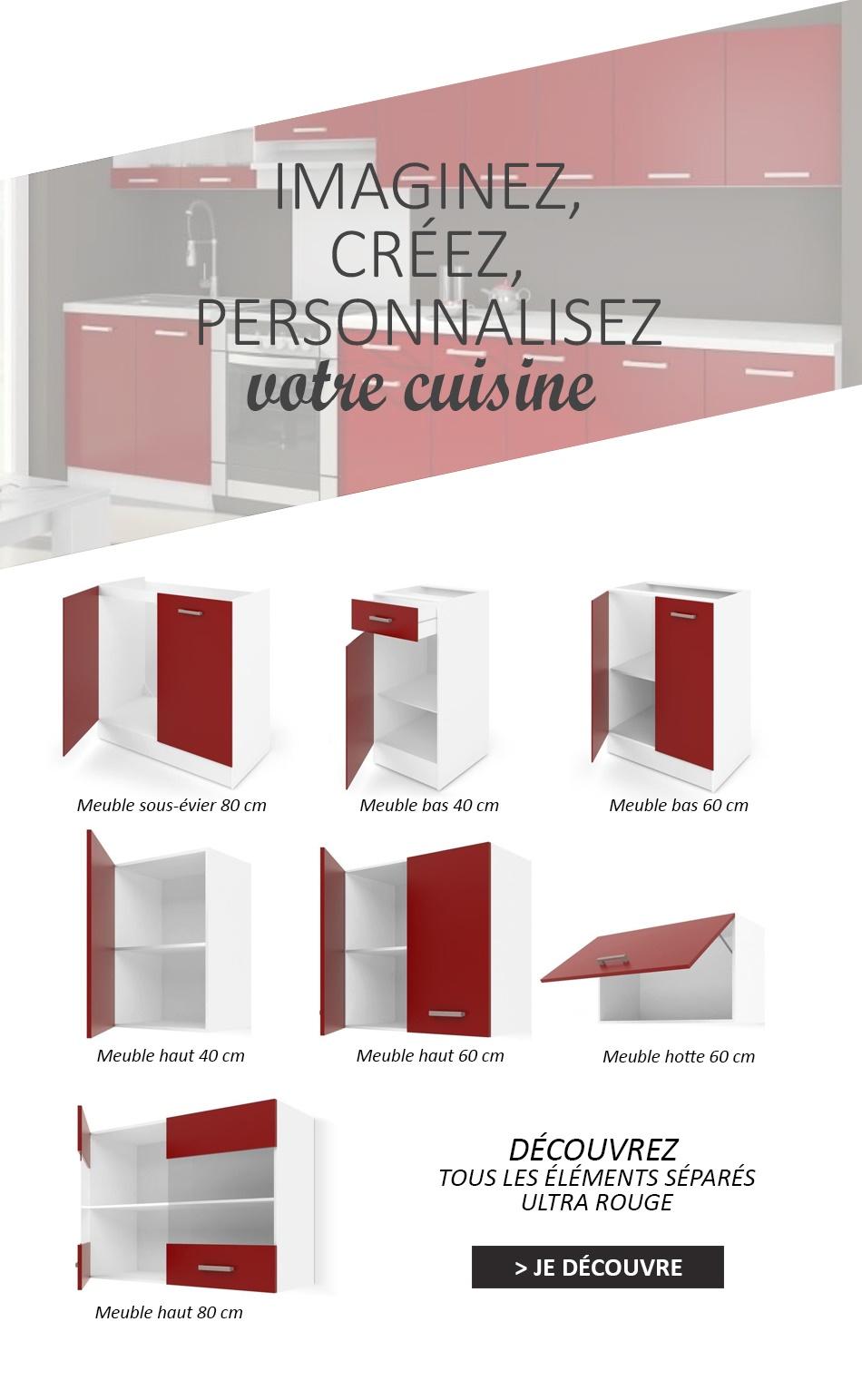 meuble haut cuisine hauteur 40