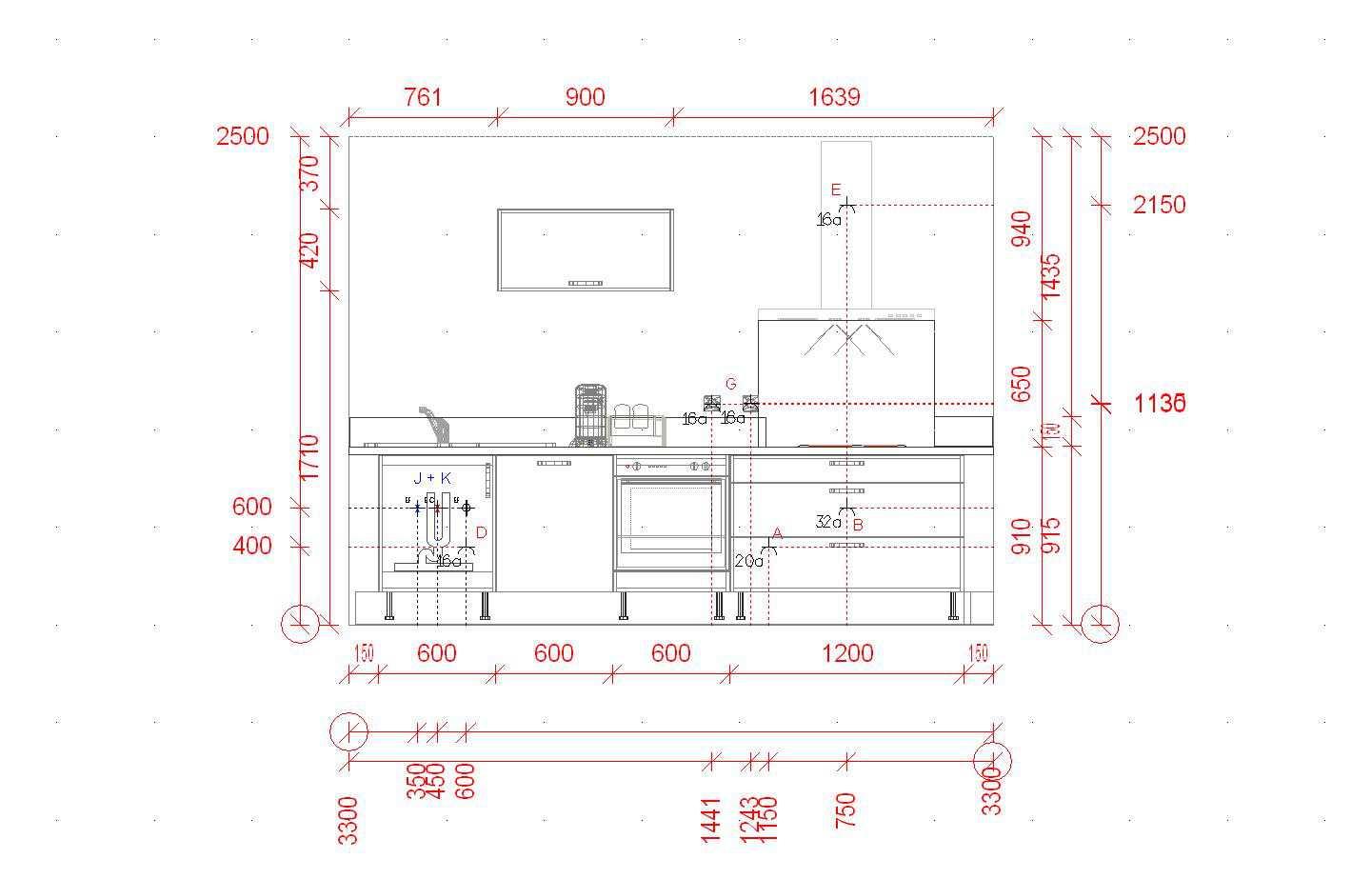 meuble haut cuisine hauteur pose