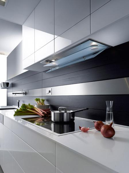 meuble haut cuisine hotte integree