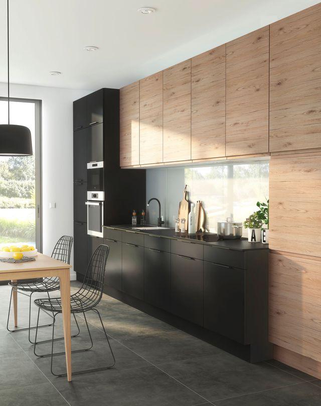 meuble haut cuisine jusqu'au plafond
