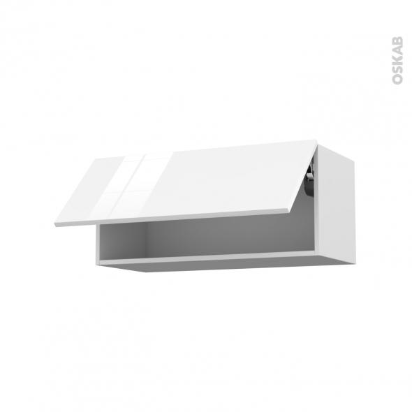 meuble haut cuisine laque blanc