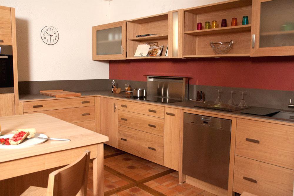 meuble haut cuisine orange