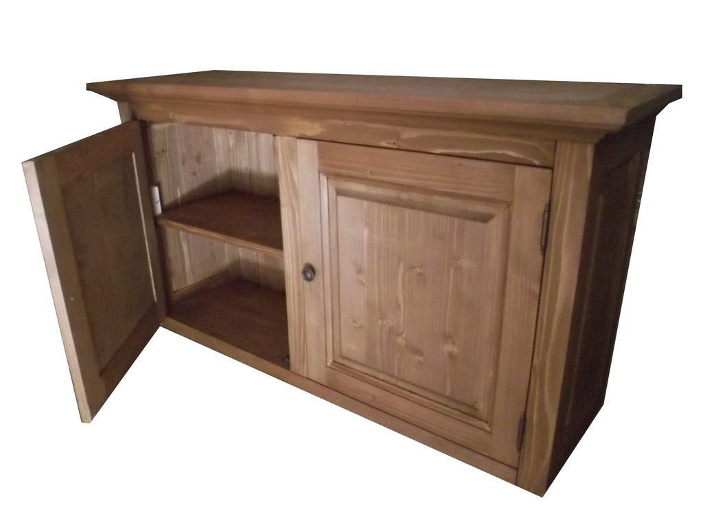 meuble haut cuisine pin