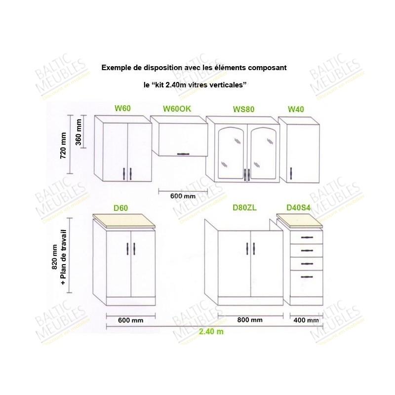 meuble haut cuisine profondeur