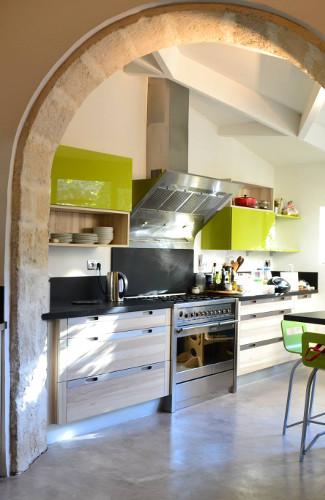 meuble haut cuisine vert