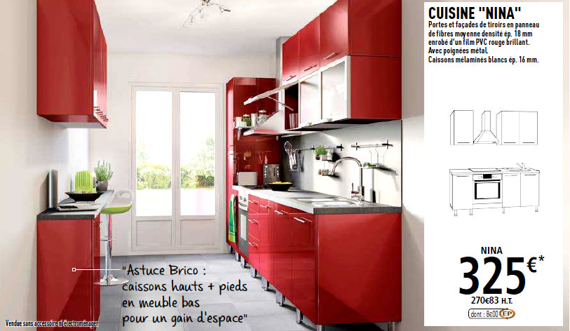 meuble cuisine 30 cm brico depot