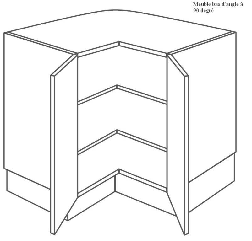 meuble cuisine 90x90
