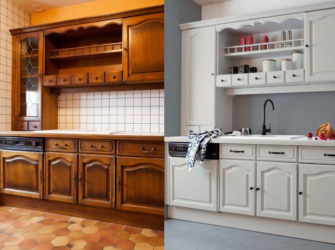 meuble cuisine a peindre