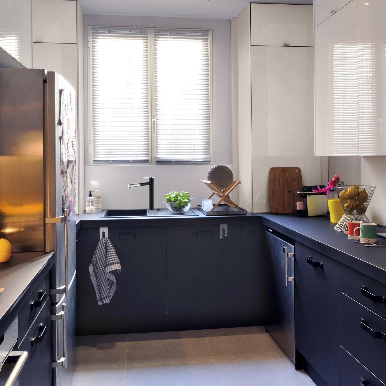 meuble cuisine noir mat