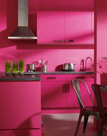 meuble cuisine rose