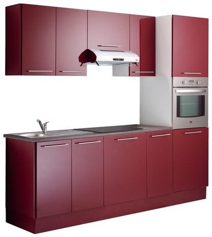 meuble cuisine rouge brico depot