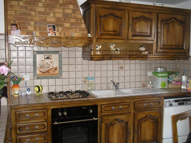 meuble cuisine rustique