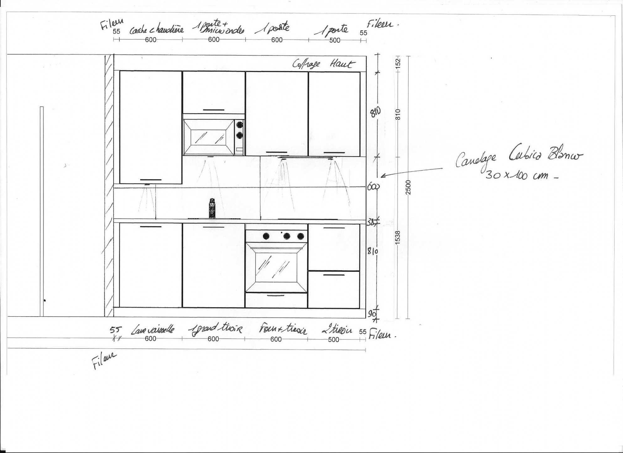 Hauteur Armoire De Toilette hauteur meuble haut cuisine rapport plan travail